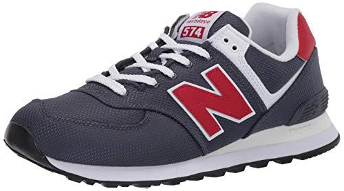 New Balance 574v2, Zapatillas para Hombre, Gris Grey/Red Scj, 44 EU