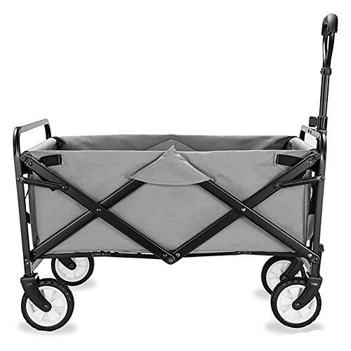 Xkcjtcfcarrelli pieghevoli con ruote richiudibili pesanti dutyydolly con ruote freno, 60 kg / 132 libbre di capacità, d: grigio