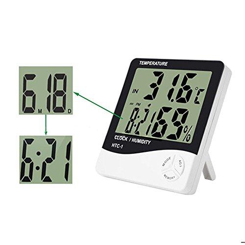 Zeitplan Elektronische (Yunchenghe elektronische Hygrometer, Wetterthermometer, Innenfeuchtigkeits-Thermometer an der Wand befestigter Monitor-Sensor-Thermostat-Innenministerium, digitales Innenthermometer mit Gedächtnis, Uhr)