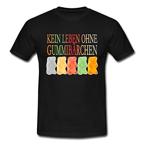 Spreadshirt Süßigkeiten Kein Leben Ohne Gummibärchen Männer T-Shirt, XL, Schwarz (Jungen Ist Gut-shirt Für Das Leben)