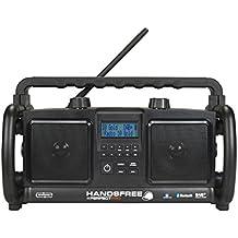 PerfectPro Handsfree Baustellenradio/Outdoorradio mit DAB+ und Bluetooth, Loudness, spritzwassergeschützt, Akkubetrieb möglich