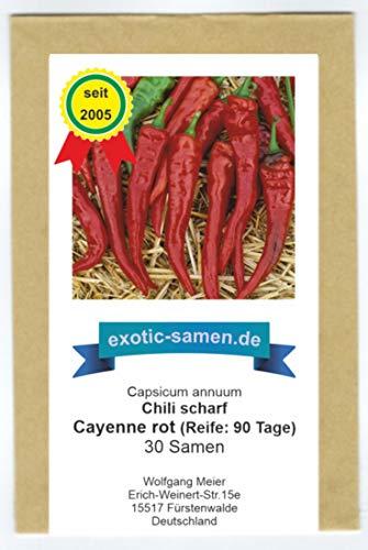 samenfest von unserer Farm 10 Samen Super-Scharf Habanero rot
