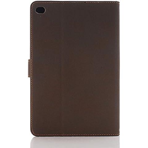 Mamaison007 WLD A001 Retro clásico estilo antiguo Material Flip PU cuero protector casos para iPad Mini 4 - marrón