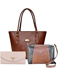 eb3731e51d4 Fargo Premium PU Leather Women s Handbag With Sling Bag And Hand Clutch  Combo Of 3 (
