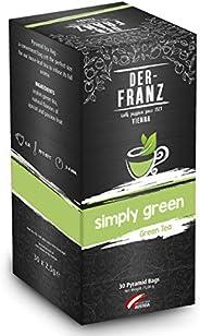 """Der-Franz - Té verde """"Simply Green"""" con sabor natural en bolsitas piramidales,"""