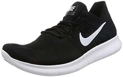 8911ae37e864f ... Nike Men s Free Rn Flyknit 2017 Black White Black Running Shoe 13 Men US