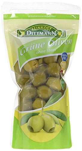 Feinkost Dittmann Grüne Oliven ohne Stein, 10er Pack (10 x 270 g)