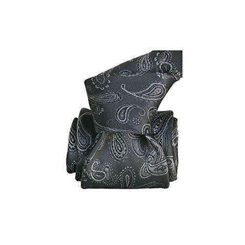 Segni et Disegni - Cravate Segni Disegni Luxe, Faite Main, Alexandrie Gris