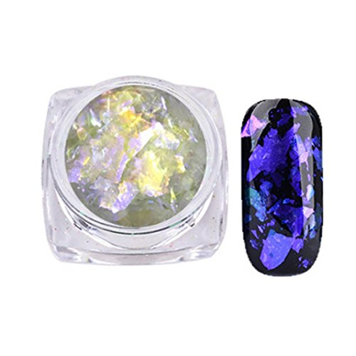Hot Spiegel Nagel Nail Nail Art Gorgeous Chameleon Mirror Powder Manicure Chrome Pigment Glitters 0.2 g Von Xinan (❤️, F)