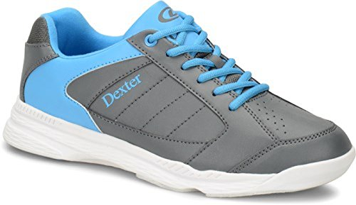 Dexter Ricky IV Bowling Schuhe für Einsteiger und Profis Größe 38-47 in 3 (Grau/Blau, 39)