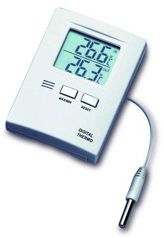 Preisvergleich Produktbild TFA Digitales Innen-Außen-Thermometer (inkl Batterie) weiß 301012
