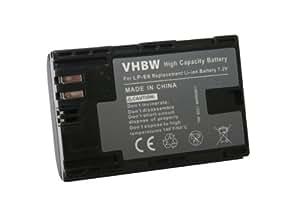 vhbw Li-Ion Akku (7.4V) 1300mAh mit Infochip für Canon Batteriegriff BG-E6, BG-E7, EOS 6D, 7D, 60D, 70D, 5D MARK II, 5D MARK III wie Canon LP-E6.