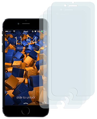 mumbi Schutzfolie kompatibel mit Apple iPhone 6 Folie, iPhone 6s Folie klar, Bildschirmschutzfolie (4x)