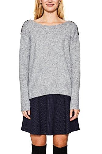 Esprit, Pull Femme Gris (Medium Grey 5 039)