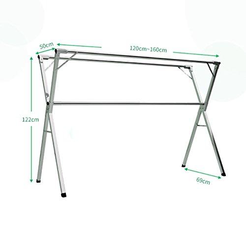 Klappbare Trockenständer Bodenstreckende Kleiderständer Außenbalkon Trockenständer Wäscheständer ( größe : 120-160cm )
