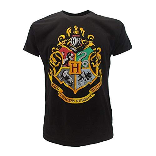 T-Shirt Maglietta STEMMA Scuola di HOGWARTS Harry Potter - 100% Ufficiale WARNER BROS (XXS = 8/10 Anni)