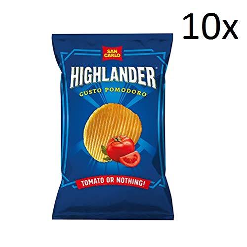 Preisvergleich Produktbild 10x San Carlo Highlander Tomato or nothing Patatine Kartoffel chips 50 g