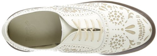 Dr. Martens Aila Polished Smooth Off Wht, Scarpe Con i Lacci Donna bianco (White - Weiß (off white))