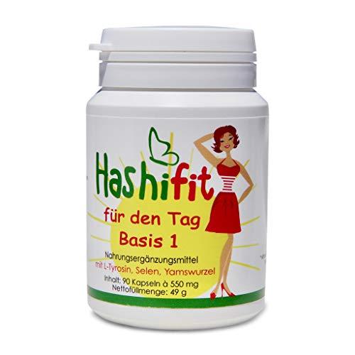 Hashifit® für den Tag Basis 1 - hochdosierte Nahrungsergänzung für die Schilddrüse, das Immunsystem, gegen Müdigkeit