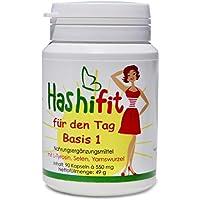 Hashifit® für den Tag Basis 1 unterstützt Schilddrüse, Hormonhaushalt, Stoffwechsel. Gegen Müdigkeit und Erschöpfung. Entzündungshemmer.