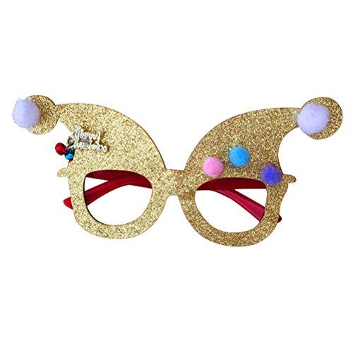 Tinksky Weihnachten Glitter Brillen Sonnenbrillen Neuheit Party Gläser Fancy Dress Brillen XMas Brillen Urlaub Brillen (Christmas Party Fancy Dress Themen)