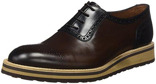 TOOGOO (R) NUEVOS zapatos de gamuza de cuero de estilo europeo oxfords de los hombres casuales 999 Marron(tamano 47) SBNW2