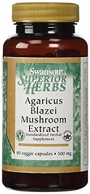 Swanson Superior Herbs Agaricus Blazei Mushroom Extract (500mg, 90 Vegetarian Capsules)