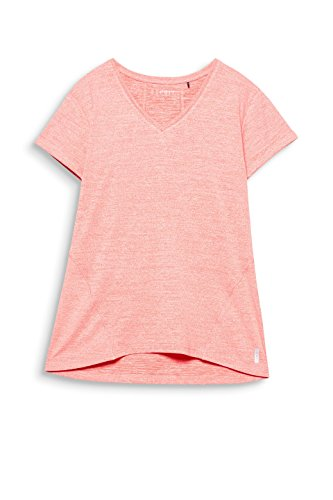 Esprit Sports Shirt de Sport Femme Orange (Salmon 2 861)