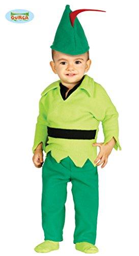 Babykostüm Bogenschütze Kostüm für Kinder Mittelalter Märchen Fasching Gr. 74 - 92, Größe:86/92