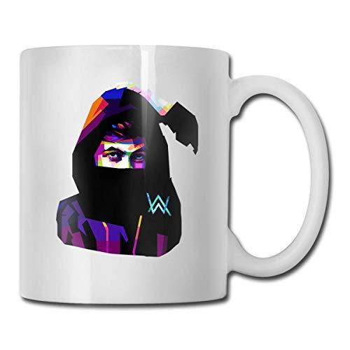 Cermaic GailFranklinandCat Alan Walker AW Logo Office Coffee Cups Double-Sided Tea Mug 11 Oz - Walker Cup
