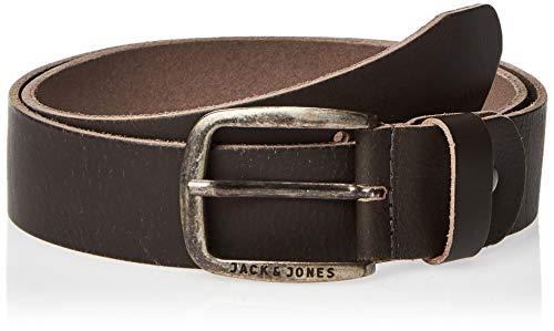 JACK & JONES NOS Herren Jacpaul Leather Belt Noos Gürtel, Grau (Castlerock), 95