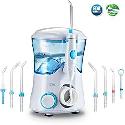 HONZIN Idropulsore Dentale Multifunzione, Irrigatore Orale per Cura Famiglia e Cura Dentale