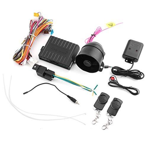 Praktische Auto Alarm 838N Anti-Hijacking Remote Trunk Release Haube Trigger Zentralverriegelung kompatibel - schwarz