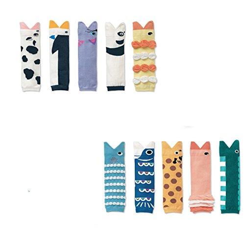 Baby Kleinkind Mädchen Jungen Kinder Socken Cotton Leggings Legs Wärmer Beinstulpen Babysocken (Fisch)