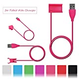 Fitbit Alta Ladegerät, ifeeker 1m/3,3ft USB Ladegerät Einzigartige Clipping Ersatz 7Farben [grün, schwarz, pink