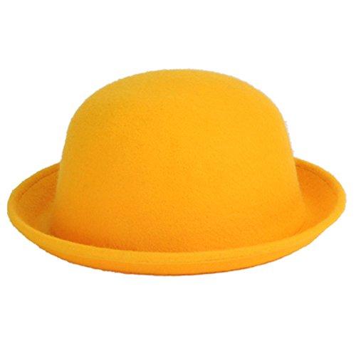 ECYC Frauen Bowler Derby Woolen Bowler Hut Cap, (Grüne Kind Derby Hat)