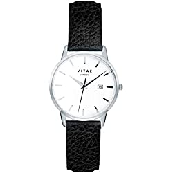 Black/Silver Kleinskool 34mm Watch by Vitae London