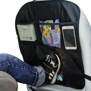 Siivton 2pcs de voiture Tapis de Kick, protecteurs Coque arrière de sièges auto universel Organiseur de voyage