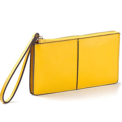 Mefly Onorevoli Colleghe In Pelle Borsa A Mano Innesto Femmina Portamonete Rosso Brillante Bright yellow