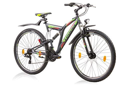 tretwerk DIREKT gute Räder ATB Leader Atlanta Street 26 Zoll Grau/Grün, Jugend-Fahrrad, Herren-Fahrrad, S -