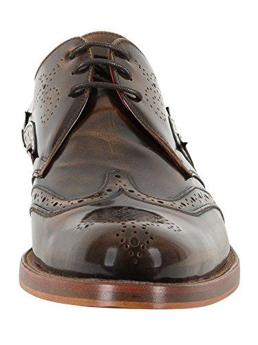 Jeffery West Homme Chaussures Poli, Marron Marron