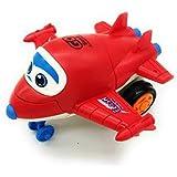 Forever Kidzz Pull Push Back Action Robot Aeroplane Toy for Kids, Mini Aeroplane to Robot | Toy for Kids and Children…