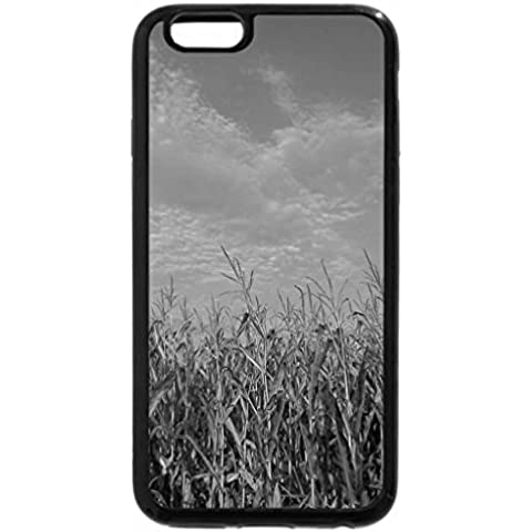 iPhone 6S Plus Case, iPhone 6 Plus Case (Black & White) - Blue Skies and Corn Fields