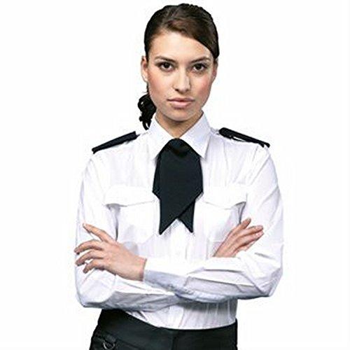 Premier Women's long sleeve pilot shirt, 8, White -