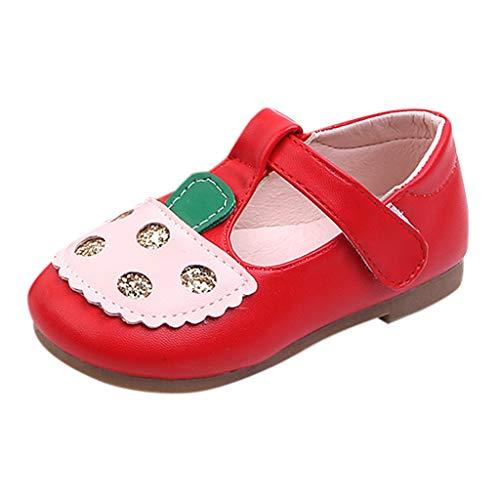 Jaysis Elegant Leder Babyschuhe Mädchen Prinzessin Schuhe Kostüm Freizeitschuhe Flache Sandalen Festliche Mädchenschuhe Taufschuhe Bequem Süß Atmungsaktiv (Cupcake Kostüm Bilder)