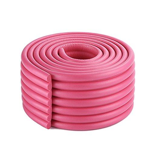 3 Stück Kantenschutz,2m Eckenschutz Baby Eckenschützer Zuschneidbar Weich Stoßschutz für Tisch- und Möbel-Ecken Kinderschutz (Bright rosy red)