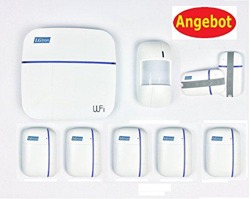 LGtron WLAN WIFI GPRS GSM Funk Alarmanlage LGD8006 (bidirectional) mit 5xTürFenstermelder Paket