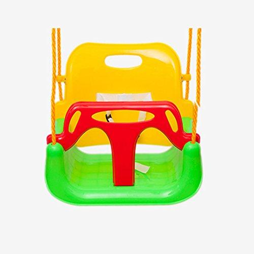 Extsud Babyschaukel 3 in 1 Babysitz verstellbar und mitwachsend Schaukelsitz Gartenschaukel für Baby und Kinder mit Rückenlehne und Anschnallgurt belastbar bis 200kg Grün