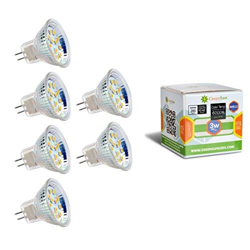 6X Neverland AC/DC 12V MR11 GU4 3W 12*2835SMD LED Spot Gluehbirne Strahler Lampe Leuchte Warmweiss (Was Für Eine Helle Ersatz-birne)