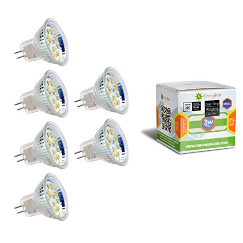 Neverland 6X AC/DC 12V MR11 GU4 3W 12*2835SMD LED Spot Gluehbirne Strahler Lampe Leuchte Warmweiss (Grad 12 Spot 20w)